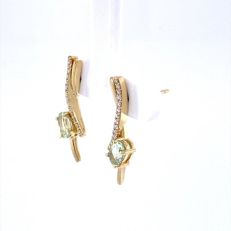 Parlé Mint Garnet and Diamond Earrings
