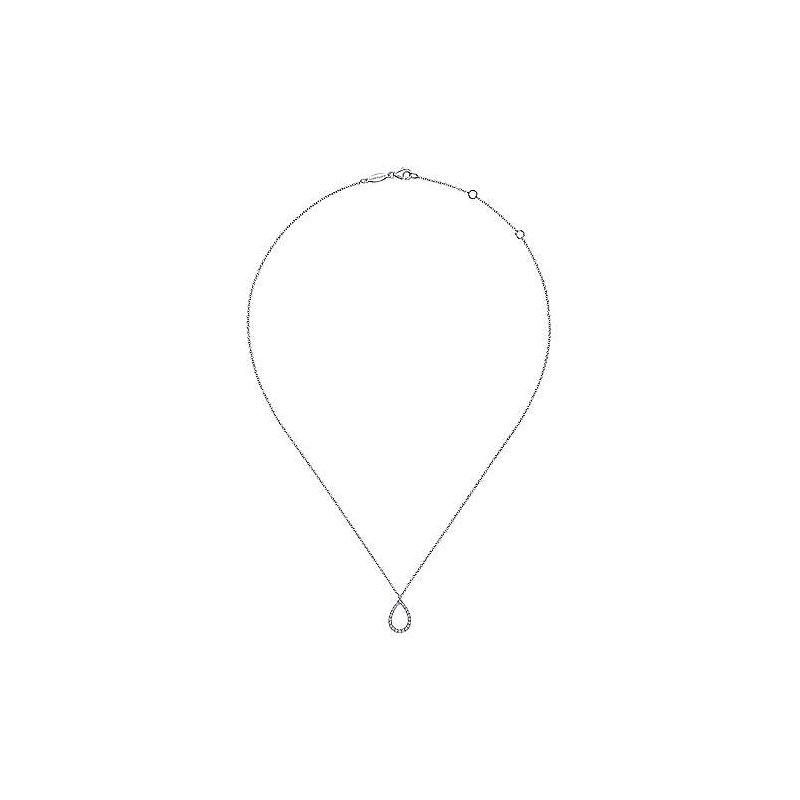 Gabriel & Co. -  IN-STORE COLLECTION Diamond Teardrop Necklace