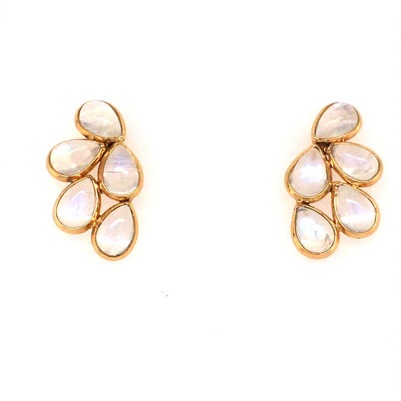 Tresor Rainbow Moonstone Flora Earrings