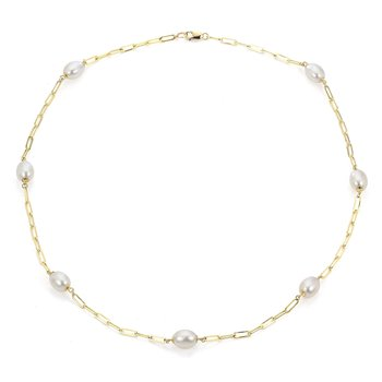 Pearl Paperclip Necklace