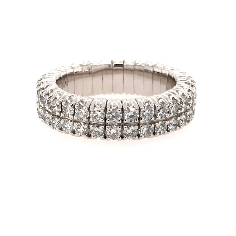 BRIAN'S VAULT Two Row Flexible Diamond Ring
