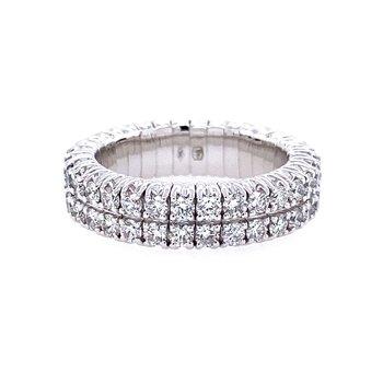Two Row Flexible Diamond Ring