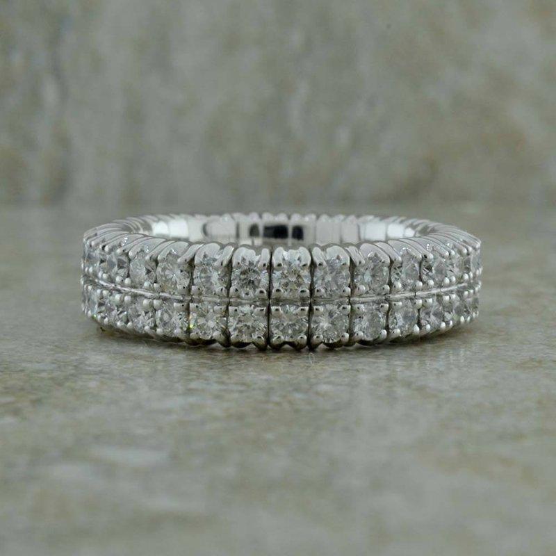 BRIAN'S VAULT Two Row Flexible Diamond Ring