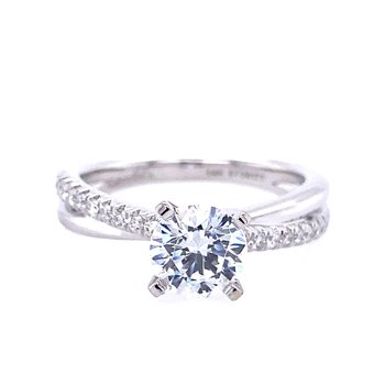Twist Style Engagement Ring
