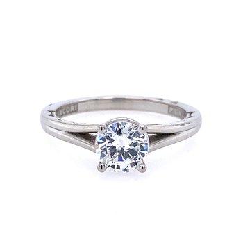 Platinum Split Shank Engagement Ring