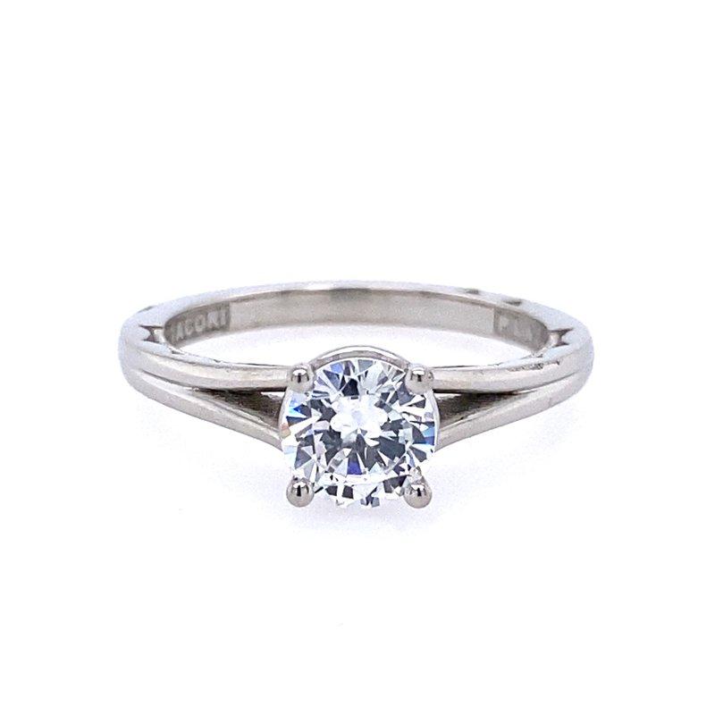 B&C Collections Platinum Split Shank Engagement Ring