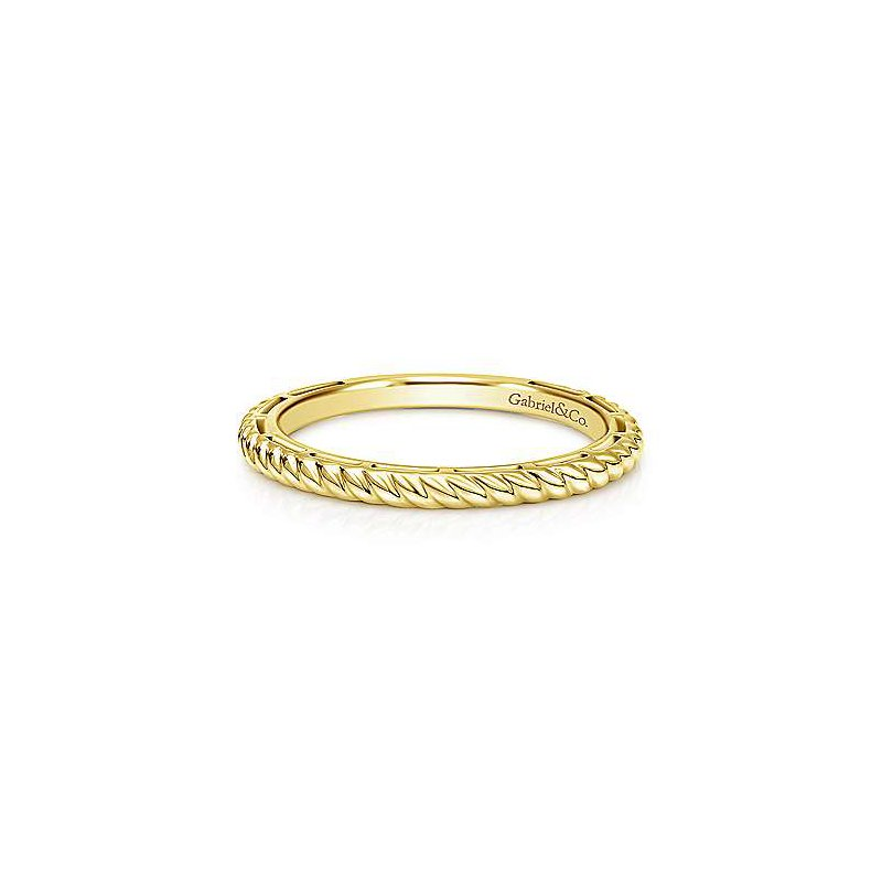 Gabriel & Co. -  IN-STORE COLLECTION Gold Twisted Rope Stackable Band