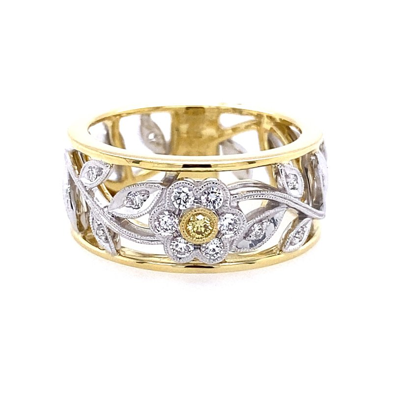 Simon G IN-STORE COLLECTION Two Tone Floral Ring