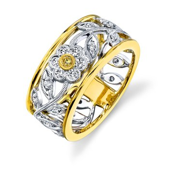 Two Tone Floral Ring