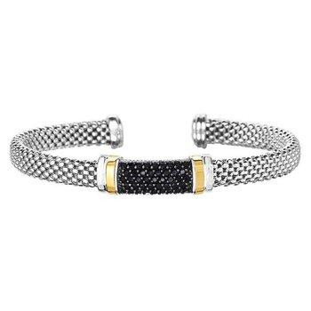 Black Sapphire Popcorn Bracelet