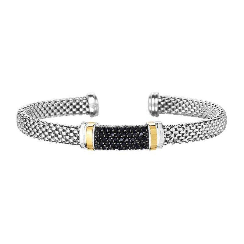 Phillip Gavriel Black Sapphire Popcorn Bracelet