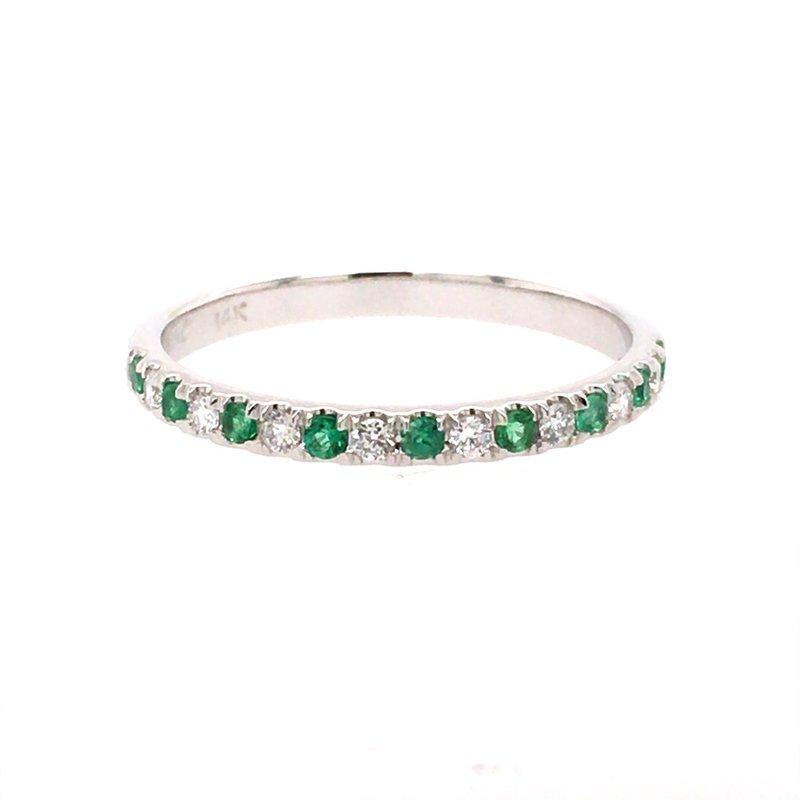B&C Creations Emerald and Diamond Band