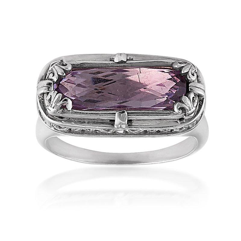 Anatoli Jewelry Rectangular Lavender Amethyst Ring