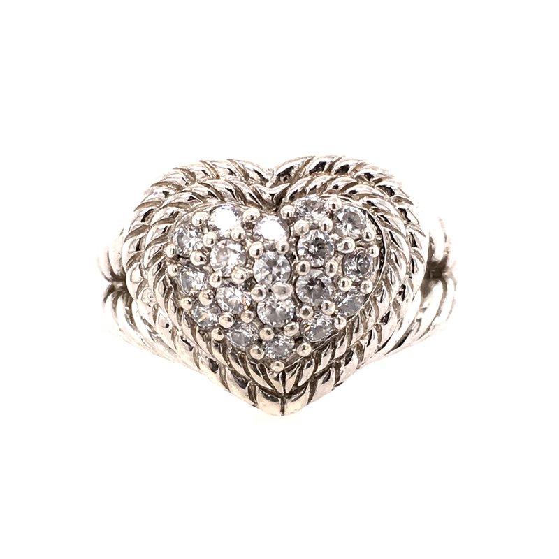 B&C Estate Collection Judith Ripka Heart Ring