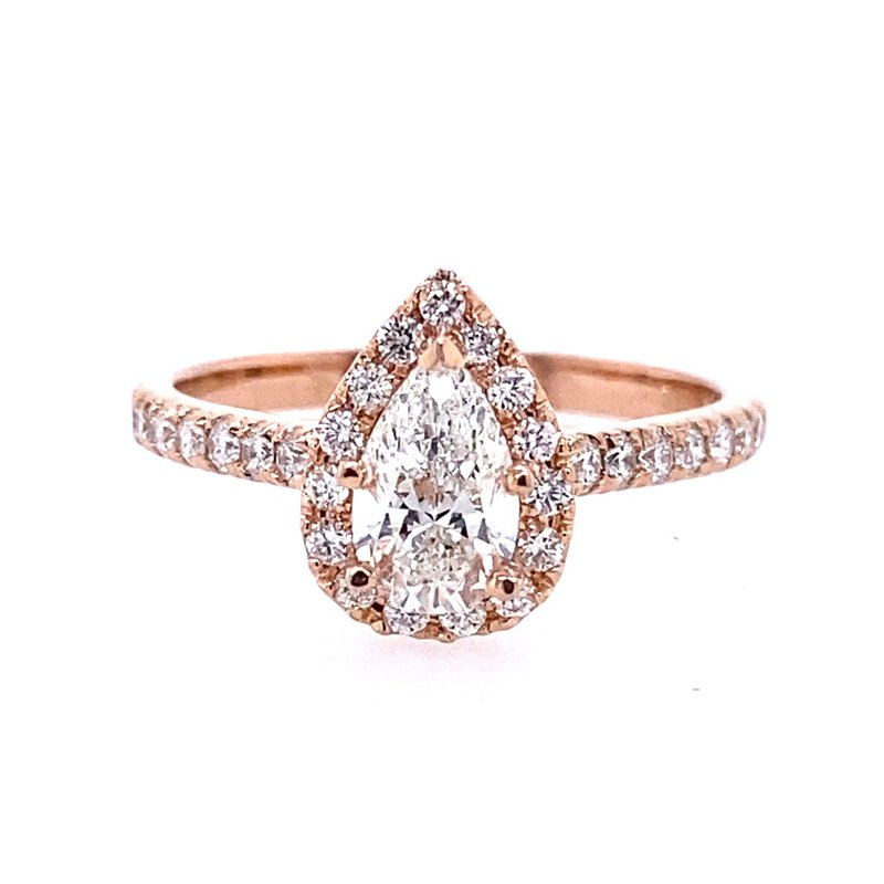 B&C Creations Fancy Shaped Halo Engagement Ring