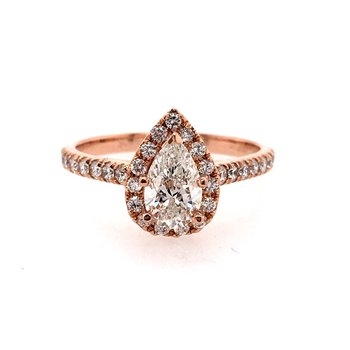 Fancy Shaped Halo Engagement Ring