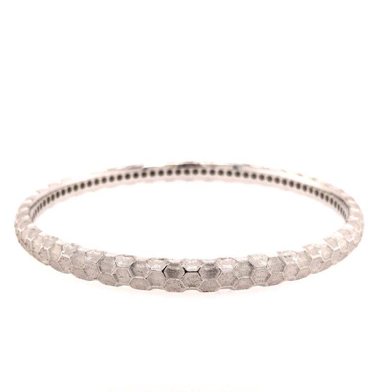 BRIAN'S VAULT Polished Silver Bangle