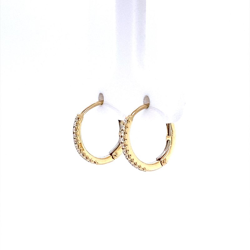 B&C Collections Small Diamond Hoops