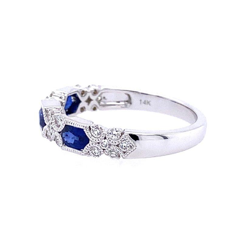 Allison Kaufman Sapphire & Diamond Ring