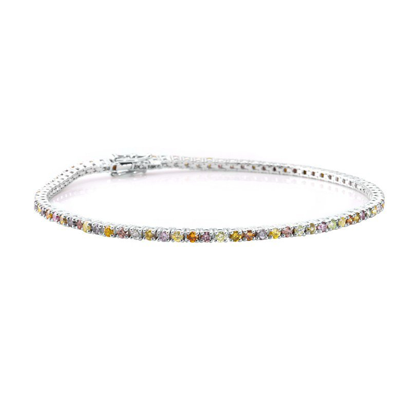 Jordan Widdes Creations Multicolored Diamond Tennis Bracelet