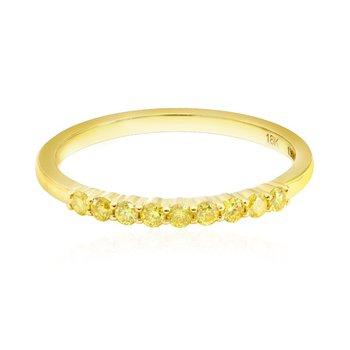 Fancy Intense Yellow Diamond 9 Stone Stacking Band Ring