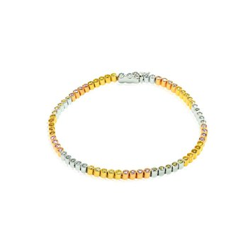70 Stone 2.09ct Multicolored Diamond Mix Tennis Bracelet set in 18K Gold