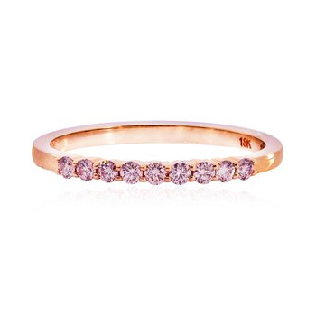 Pink Diamond 9 Stone Stacking Band Ring
