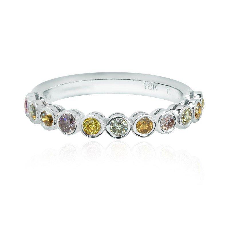 Jordan Widdes Creations Multicolor Diamond Bezel Band Ring