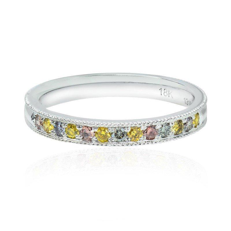 Jordan Widdes Creations Milgrain Multicolored Diamond Stackable Milgrain Band Ring