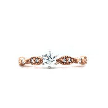 10KR Diamond Engagement Ring w/ 0.33 ctw, Size 7.25