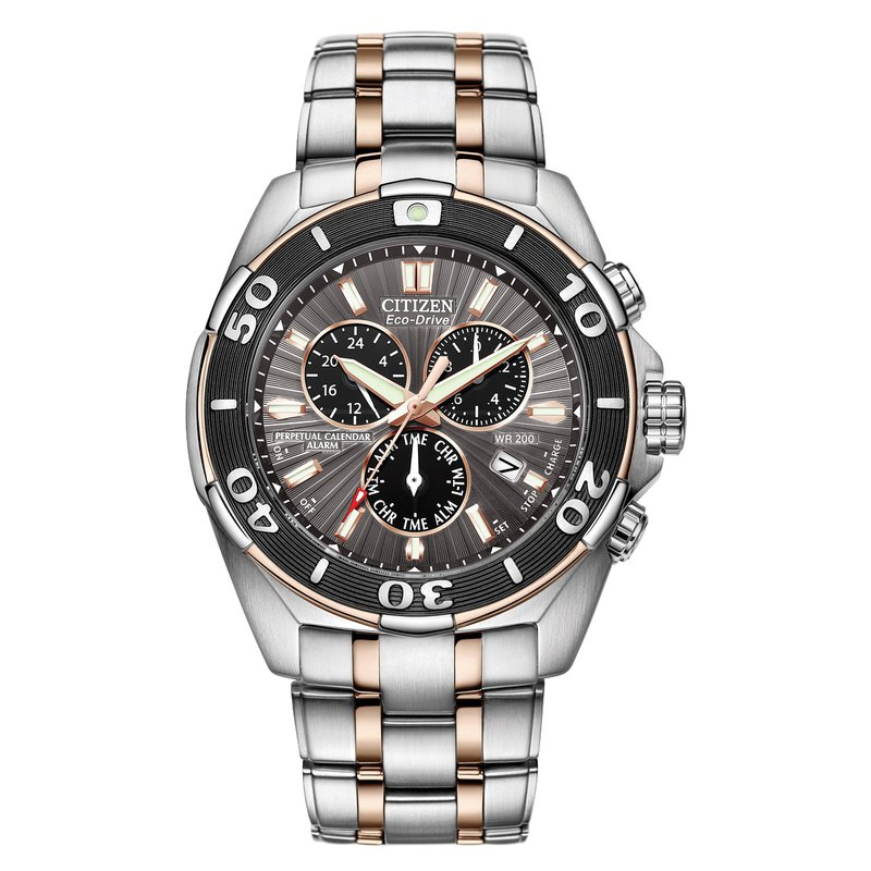 Citizen Watches in Stock Stainless Steel Two Tone Signature Watch w/ Perpetual Calendar