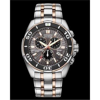 Stainless Steel Two Tone Signature Watch w/ Perpetual Calendar