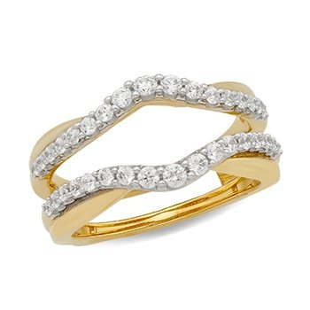 14KY Diamond Ring Guard w/ 0.63 ctw, Size 7