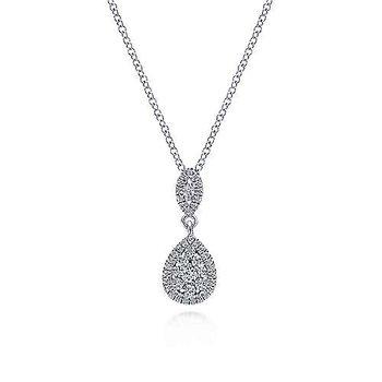 """14KW Fashion Diamond Necklace w/ 0.33 CTW 18"""" Chain"""