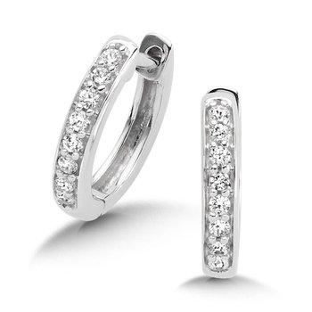 10KW Diamond Huggie Earrings w/ 0.15 ctw