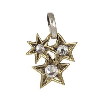 Sterling Silver & Brass Starlight Cluster Pendant