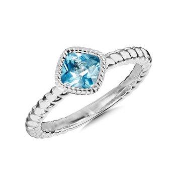 Sterling Silver Swiss Blue Topaz Ring Size 7