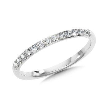 14KW Diamond Band w/ 0.25 ctw Size 7