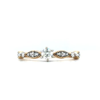 10KY Diamond Engagement Ring w/ 0.33 ctw, Size 7.25