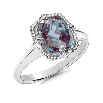 Sterling Silver Created Alexandrite Ring Size 7