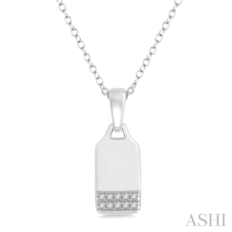 Green Brothers Collection 10KW Diamond Dog Tag w/ 0.05 ctw