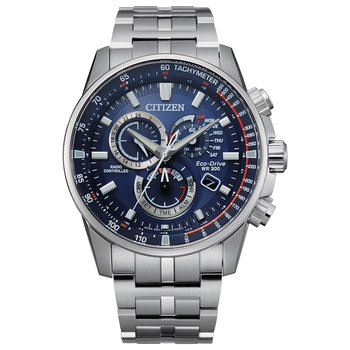 Stainless Steel Citizen Eco-Drive World Time Watch w/ Alarm & Perpetual Calendar