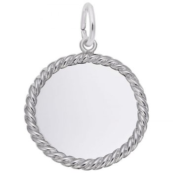 Sterling Silver Rope Disc Charm