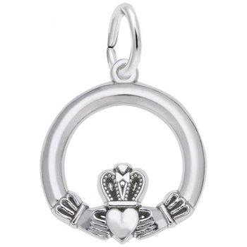 Sterling Silver Claddagh Charm
