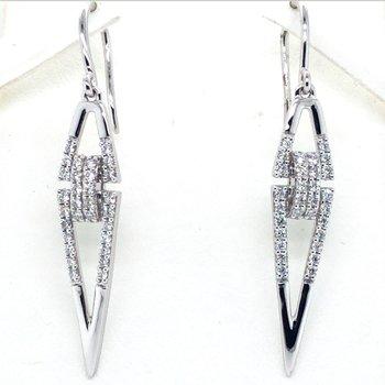 14KW Diamond Earrings w/ 0.62 ctw