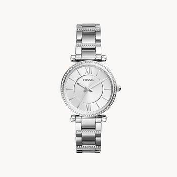 Sterling Steel White Watch w/ Crystals
