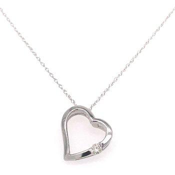 10KW Diamond Heart Pendant w/ 0.06 ctw