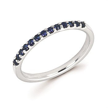 14KW Sapphire Ring w/ 0.29 ctw, Size 6.5
