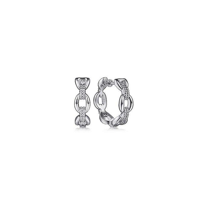 Gabriel & Co. Sterling Silver Oval Link Classic Hoop Earrings