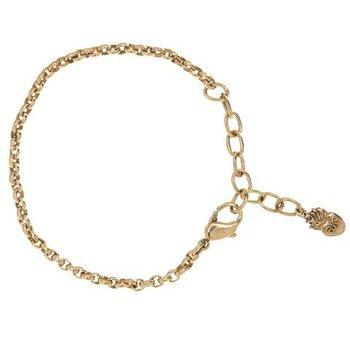 """Brass 7-8"""" Rolo Bracelet"""